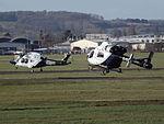 G-KSST Agusta AW169 With G-KSSA Explorer MD900 Helicopters (24924528440).jpg