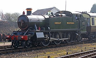 GWR 5101 Class - Image: GWR 5164 at Kidderminster