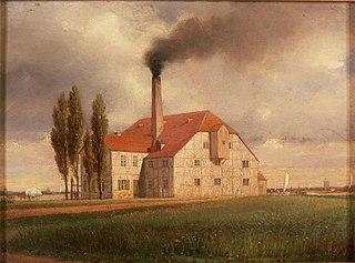 Die Tonwarenfabrik von Ernst March in Charlottenburg
