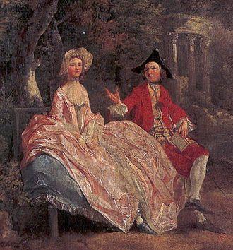 Social - Conversation in a Park by Thomas Gainsborough, 1745