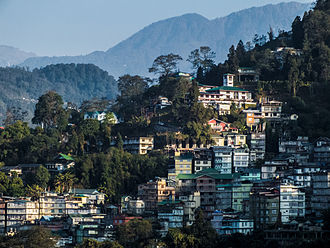 Gangtok - Gangtok from Tibet Road