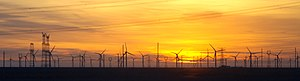 Wind farm - The Gansu Wind Farm in China is the largest wind farm in the world, with a target capacity of 20,000 MW by 2020.