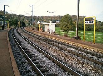 Belval-Rédange railway station - D'Gare vu Belval-Réideng