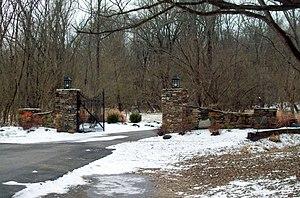 White Hall (Ellicott City, Maryland) - Gates to White Hall, January 2011
