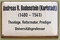 Gedenktafel Kirchplatz 11 (Wittenberg) Andreas Bodenstein.jpg