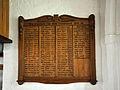 Gedenktafel der gefallenen Soldaten im Ersten Weltkrieg in der Lichtenhäger Kirche.jpg