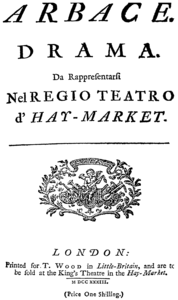 Georg Friedrich Händel - Arbace - title page of the libretto - London 1733.png