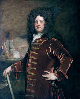 Portrait de George Churchill par Godfrey Kneller (NMM)