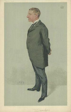 George Burns, 2nd Baron Inverclyde - Vanity Fair caricature by Spy (Leslie Ward), 28 July 1904.