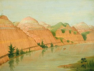 Magnificent Clay Bluffs, 1800 Miles above St. Louis