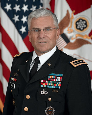 Shoulder mark - Blue Service Uniform with shoulder strap rank insignia, as worn by General George W. Casey, Jr.