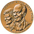 Gerald and Betty Ford Congressional Gold Medal (front).jpg