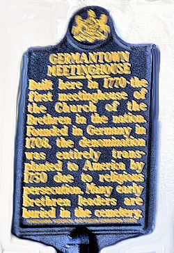 Photo of Germantown Meetinghouse blue plaque