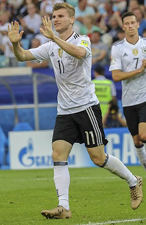 Timo Werner - Werner with Germany in 2017