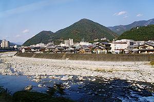 Hida River - The Hida River flowing through Gero