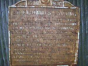 Watertown, Massachusetts - Saltonstall's landing spot in Watertown, also known as Elbridge Gerry Landing