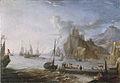 Gezicht op een Zeehaven, door Adriaen van der Kabel (1631-1705).jpg