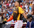 Giancarlo Stanton competes in semis of '16 T-Mobile -HRDerby. (28468371532).jpg