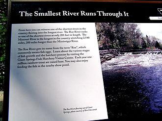 Roe River - Interpretative sign at Roe River