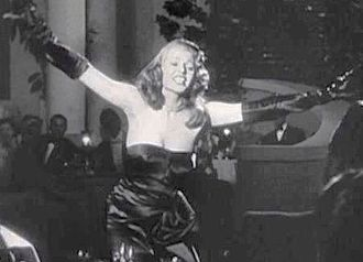 """Gilda - Costume designer Jean Louis called the black strapless gown worn by Rita Hayworth in Gilda """"the most famous dress I ever made."""""""