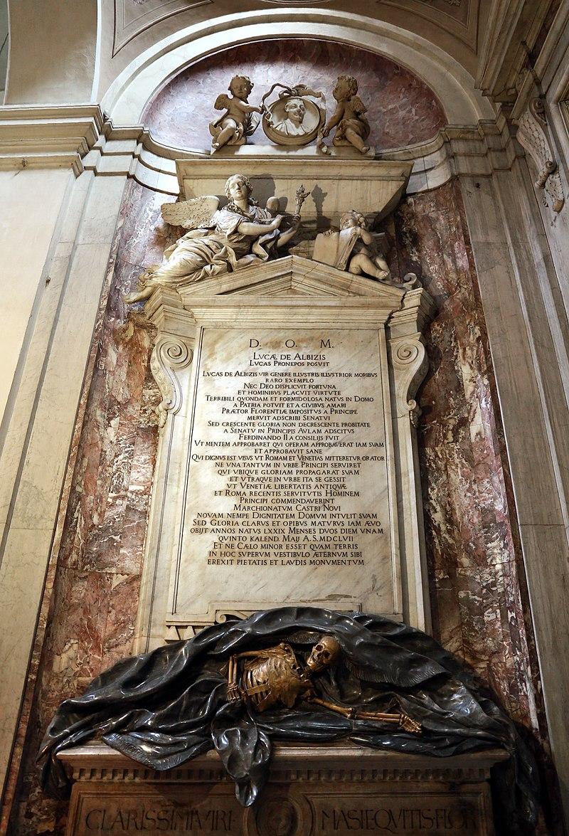 https://upload.wikimedia.org/wikipedia/commons/thumb/3/32/Giovan_Battista_Foggini%2C_monumenti_albizi%2C_1700-10_ca._%28con_casse_del_1417%29_01.jpg/800px-Giovan_Battista_Foggini%2C_monumenti_albizi%2C_1700-10_ca._%28con_casse_del_1417%29_01.jpg