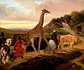 Giraffe Crossing (1827) by Jacques Raymond Brascassat.jpg