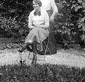 Girl, summer, garden, smile Fortepan 4292.jpg
