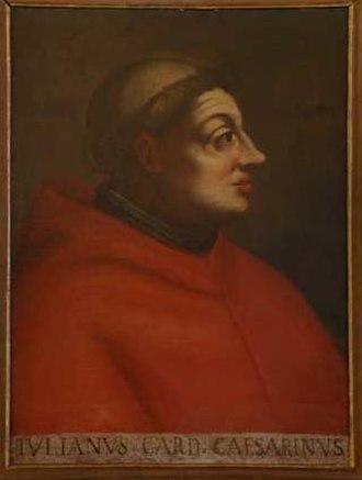 Julian Cesarini - Cardinal Giuliano Cesarini. Painting in the University of Bologne
