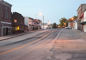 Glasgow, Missouri - 1st Street in Glasgow