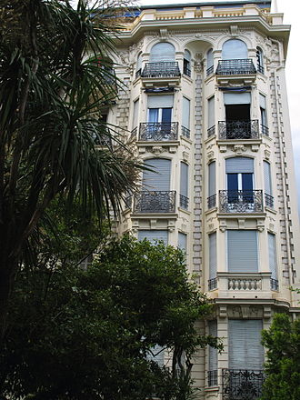 Magnus Hirschfeld - Gloria Mansions I, 63 Promenade des Anglais, Nice, The apartment complex where Magnus Hirschfeld died on May 14, 1935.