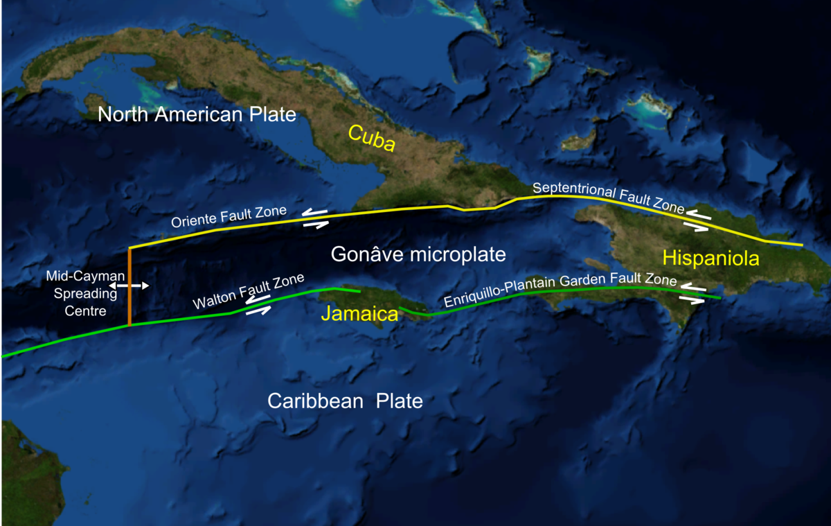 List Of Earthquakes In Cuba Wikipedia - Pate boundaries off the coasts us map