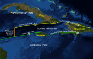 1946 Dominican Republic earthquake - The Septentrional-Oriente fault zone in the Caribbean and across Hispaniola