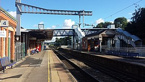 21st-century modernisation of the Great Western main line - Image: Goring and Streatley station new footbridge 01
