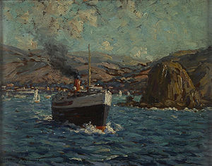 Granville Redmond - Steamer leaving Avalon, Catalina Island.jpg
