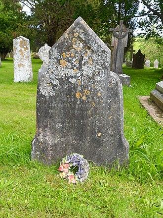 Charles Elliot - Elliot's grave at St John in the Wilderness, Exmouth