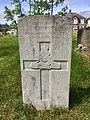 """Gravestone of Driver W. Harvey of the """"B"""" Bty. 37th Bde. Royal Field Artillery at Cathays Cemetery, May 2020.jpg"""