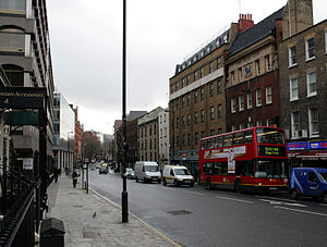 Gray's Inn Road - Looking south from the junction with Calthorpe Street