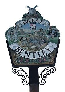 Great Bentley village in the United Kingdom