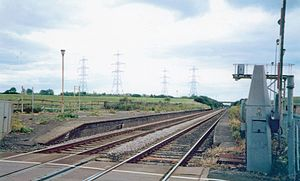 Greatham railway station - The remains of the station in 2002