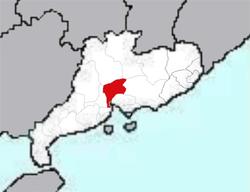 廣州市位置圖