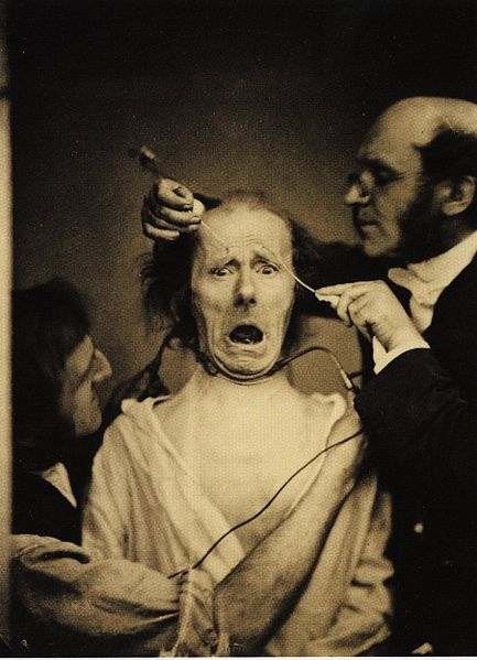 http://upload.wikimedia.org/wikipedia/commons/thumb/3/32/Guillaume_Duchenne_de_Boulogne_performing_facial_electrostimulus_experiments.jpg/433px-Guillaume_Duchenne_de_Boulogne_performing_facial_electrostimulus_experiments.jpg