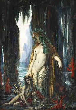 Gustave Moreau - Le Poète et la Sirène, 1893