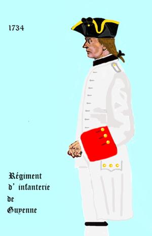 Régiment de Guyenne - Image: Guyenne inf 1734