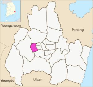 Seondo-dong - Image: Gyeongju map Seondo dong 01
