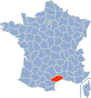 Communes of the Hérault department - Image: Hérault Position