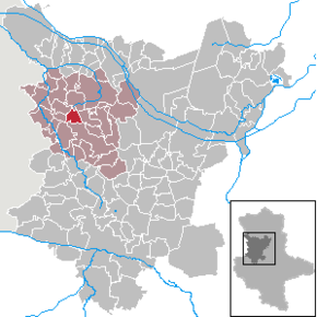 Location of Hörsingen  within the Börde district