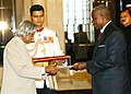 H.E. MR. GILBERT BLEU-LAINE DESIGNATE BASSADOR OF THE COTE D'IVOIRE IVORY COAST PRESENTED HIS CREDENTIALS TO THE PRESIDENT DR. APJ ABDUL KALAM AT RASHTRAPATI BHAVAN IN NEW DELHI ON SEPTEMBER 29, 2004.jpg