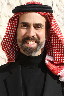 H.R.H. Prince Ghazi bin Muhammad with Shmagh Smiling 13.12.11.jpg