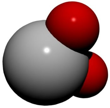 English: H 2 O (a water molecule)