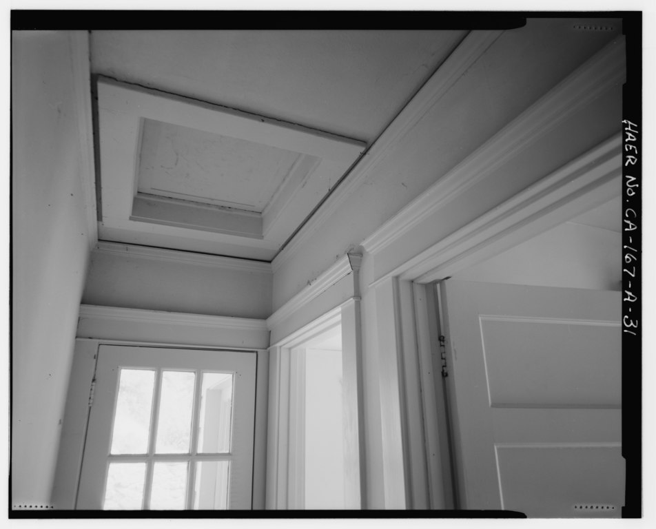 File Hall Interior Showing Single French Door To North